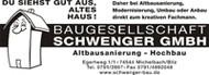 Logo von der Firma: Baugesellschaft Schwenger GmbH